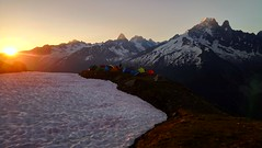 Sunrise at l'Index, Chamonix, France (JinxiPhotography) Tags: sunrise hdr mountain clear sky skies sun morning camping camp tent snow altitude cloud france chamonix mont blanc