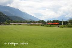 ÖBB: Rh 1116 112 et 280 à Unterperfuss(A) (passiontrain.ch) Tags: rh 1116 siemens transalpin suisse autriche zurich innsbruck graz österreich öbb bundesbahn unterperfuss