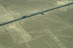Panamericana / Панамерикана (Vladimir Zhdanov) Tags: travel peru desert aerial sand nazca sechura nature landscape panamericana road car people geoglyph ancient lines