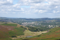 Hurst Reservoir & Glossop ( from Snake Pass)  July 2018 (dave_attrill) Tags: glossop hurst reservoir snakepass valley town country peakdistrict derbyshire snakeroad road a57 sheffield manchester mainroad corridor july 2018 hills summer