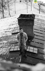 tm_4780 - Malmslätt, Östergötland 1942 (Tidaholms Museum) Tags: svartvit positiv malmslätt östergötland soldat