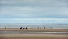 beach and turbines (Mike Ashton) Tags: mersey sps wirral newbrighton beach coast summertime