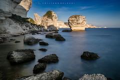 Strong like a rock. (Emykla) Tags: rocce rocks francia france corsica corse mare sea bonifacio nikon d3100 stacks blue blu teal flickrcorsicaflickrcorse