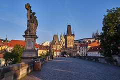 Morning hour on the Charles Bridge (AgarwalArun) Tags: sonya7m2 sonyilce7m2 sony landscape scenic nature views europe centraleurope czeckrepublic prague river vltava moldau charlesbridge karluvmost