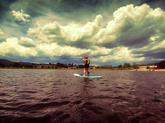 Monument Lake, CO (moonglampers) Tags: monumentlake co colorado monument kayak kayaking paddleboards water august 2018