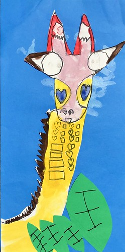 """1st grade African Giraffe Paintings #giraffe #drawing #painting #art #collage #1st #1stgrade #arteducation • <a style=""""font-size:0.8em;"""" href=""""http://www.flickr.com/photos/57802765@N07/30025305998/"""" target=""""_blank"""">View on Flickr</a>"""