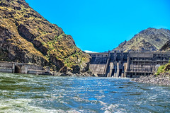 A View Of Hells Canyon Dam (http://fineartamerica.com/profiles/robert-bales.ht) Tags: aupload fahellscanyon facebook forupload haybales hellscanyontrip idaho people photo photouploads places projects states canyon oregon river water lake america snake dam hells nature dusk brownlee desert mountains reservoir washington hell hellscanyon hellscanyondam snakeriver cement clouds hydro electrical electricity power recreation dramatic remote border robertbales salmon blue eastern fishing fly riggins rock nez trout beauty steelhead conservation scenic tourist gorge rapids whitewater