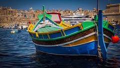 The Three Cities , the cradle of Maltese history ... (Ula P) Tags: threecities malta island marina luzzu vacations sony sonyalpha explore colorful