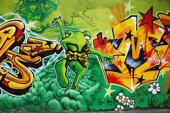 IMG_7634 rue Dieudonné Coste Paris 13 (meuh1246) Tags: streetart paris ruedieudonnécoste paris13 animaux grenouille