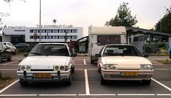 Citroën BX 19 GTi / 19 TRI + Kip Campine K370 (Skylark92) Tags: nederland netherlands holland utrecht vinkeveen park ride pr meeting point 100 jaar citroen 0274wp 1980 k370 campine kip kenteken nederlands origineel 1989 xr10rd cremant blanc u9 tri 19 bx citroën road car gti k6 rk55nv 1987