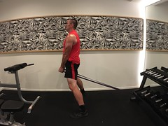Strength Band Pull Through (personaltrainertoronto) Tags: big muscles muscular bodybuilder fitness fit model gym weights workout exercise trainer training personal strength back shoulders glutes butt pull through