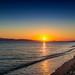Sunset at Plaka Beach, Naxos, Greece