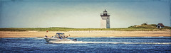 Long Point Lighthouse (CapeCawder) Tags: photoart capecod beach provincetown capecawder ptown topazimpression2 longpointlighthouse boat topazsoftware topaztextureeffects2