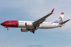 Norwegian B737-8MAX LN-BKA (José M. Deza) Tags: 20180817 b7378max bcn boeing elprat lebl norwegain planespotting spotter aircraft