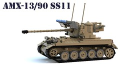 AMX-13/90 Modèle 65 with SS.11 ATGM launchers.lxf (Matthew McCall) Tags: lego light tank amx13 france french cold war military army atgm missile ss11