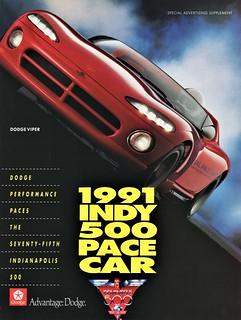 1991 Dodge Viper Indy 500 Pace Car