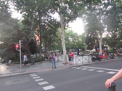 Prosperidad, My neighbourhood, Madrid (d.kevan) Tags: squaresandroundabouts parksandgardens spain madrid prosperidad myneighbouhood trees people terraces callelopezdehoyos seats shops businesses build pedestriancrossings trafficlights streetscenes railings