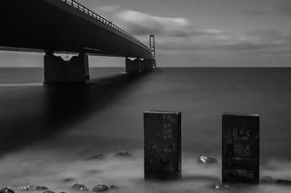 Dänemark - Storebæltsbroen - Großer Belt Brücke (sw)