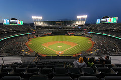Oakland Alameda Coliseum (russ david) Tags: oakland alameda coliseum county california ca june 2018 major league baseball mlb stadium park athletics as kansas city royals field