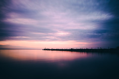(wickedmartini) Tags: nature landscape clouds watercolor blue pink purple water reflection skymeetswater pier lakeontario greatlakes waterscape websterpark rochesterny newyork wideangle nikon michaeldavignon roc