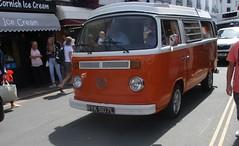 1973 VW Type 2 Camper (occama) Tags: ryk507l vw type 2 camper van orange 1973 volkswagen bay window old german cornwall uk summer holidays