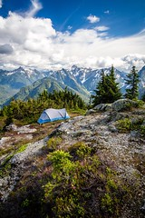 Home away from home a couple weekends ago. Mount Baker-Snoqualmie National Forest, Washington. (plottsdaniel) Tags: summertime summer mountains mountain northamerica america unitedstates seattle canon6d explore tent tenting camping camp wild wilderness canon pacificnorthwest pnw