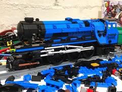 Blue is the new black! (Britishbricks) Tags: 103 flyingscotsman black blue moc train steam wip lner lego