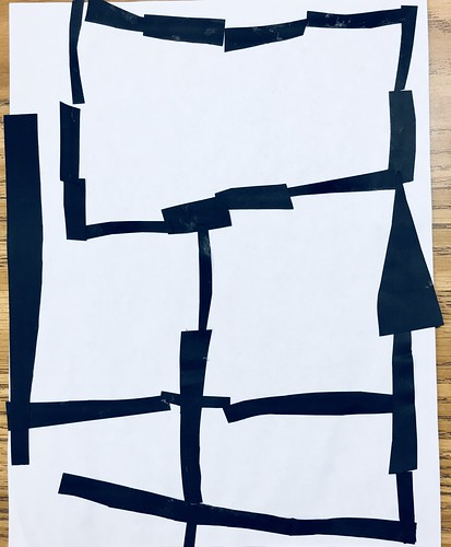 "Same #pietmondrian #kindergarten gridded #collage at its most simple elegance in black and white • <a style=""font-size:0.8em;"" href=""http://www.flickr.com/photos/57802765@N07/42087215770/"" target=""_blank"">View on Flickr</a>"