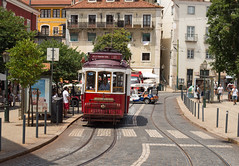 Tram Time (Joseph Bishop) Tags: portugal streetcar tram lisbon rails road railfan trains train t track tracks railroad railway rail