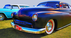 Suede-blu (Guyser1) Tags: automible vehicle car mercury choppedtop hdr westyellowstone canoneos7d