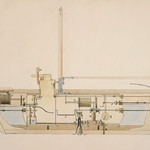 Illustration by an American engineer and inventor, Robert Fulton (1765-1815), of longitudinal section of a submarine vessel for the United States government. Original from Library of Congress. Digitally enhanced by rawpixel. thumbnail