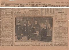 Bravery awards article in Evening Express (Gareth_1939) Tags: messrs bevan company house furnishers queen street st cardiff constable harold burfoot sergeant thomas tom williams superintendent bainbridge gas escape leak police bravery gallantry award awards medal medals evening express 1929 1920s wales welsh old newspaper report article fireman brigade south glamorgan