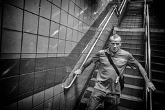 Down And Away. (rockerlan) Tags: sony rx100 down and away lexington avenue 59th street upper manhattan new york people subway underground candid photo places