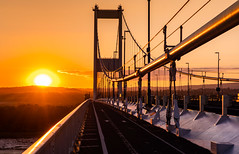 The Severn Bridge (Matt Bigwood) Tags: severnbridge riversevern aust wyebridge gloucestershire severnestuary nikond500 1870 sunset evening