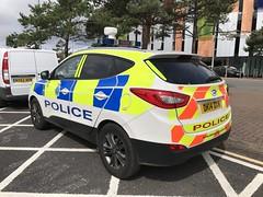 Merseyside Police - Hyundai Police Car - John Lennon Airport, Liverpool. (firehouse.ie) Tags: vehicle coche car lawenforcement polozei polizia policja policia politi polis dk14dxw johnlennonairport airport england liverpool hyundai police merseysidepolice merseyside