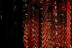 Curtain (Bamboo Barnes - Artist.Com) Tags: abstract curtain monochrome red orange black vivid photomanipulation digitalart bamboobarnes