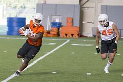 Oklahoma State Cowboy Football Practice, Thursday, August 2, 2018, Sherman Smith Training Center, Stillwater, OK. Bruce Waterfield/OSU Athletics (OSUAthletics) Tags: 2018 big12 cowboys fall fallcamp football oklahomastate oklahomastateuniversity osu pokes practice
