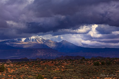 La Sal Mountains... (Selkii's Photos) Tags: archesnationalpark clouds lasalmountains moab unitedstates utah