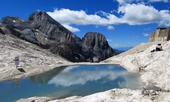 Contemplazione... (Biagio ( Ricordi )) Tags: marmolada italy montagna paesaggio lago lake fedaia trentino alto adige piandeifiacconi nuvole natura
