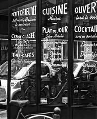 Plat Du Jour (Professor Bop) Tags: paris professorbop drjazz france window text bw rivegauche monochrome