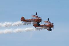 Aerosuperbatics Wingwalkers (WDGImages) Tags: aerosuperbatics wingwalking boeingstearman 20180624 westonairshow airshow aircraft