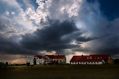From Iceland. (Tóta. 27.12.1964.) Tags: natureiceland oldhouse farm clouds grass sky sunset iceland ísland