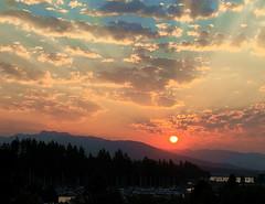 Smoky Sunrise (FernShade) Tags: vancouverbc coalharbour sunrise smokysunrise sky clouds mountains outdoor nature