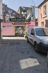 Somewhere in Dublin (GC_Dean) Tags: dublin ireland bar pub satellitedish shadows truck mural sign flag prideflag light street emptiness mundane city cityscape urban urbanlandscape sociallandscape space colors color colours structure building flora