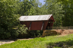 Campbells Covered Bridge II (rschnaible) Tags: campbells covered bridge the south carolina blue ridge old historic outdoor landscape building architecture colorful red