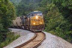 CSX G117 at Allatoona (travisnewman100) Tags: csx train railroad freight unit rr grain ge locomotive es40dc ac44ah yn3 yn2 wa subdivision atlanta division emerson georgia