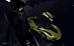 Ride (Sadwolf SL Photos) Tags: optmusrace car race pilot helmet jacket speed etham avatar model men gloves tmd secondlife sl mesh bento hangarsliquides