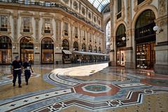 Jun 17, 2018 (pavelkhurlapov) Tags: carabinieri police gallery morning light texture geometry architecture shadows shops streetphotography arch building atrium