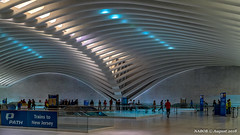 Manhattan, NY: PATH World Trade Center station inside the Oculus (nabobswims) Tags: highdynamicrange ilce6000 lightroom manhattan metro mirrorless ny nabob nabobswims newyork path photomatix portauthoritytranshudson rapidtransit sel18105g santiagocalatrava sonya6000 station subway theoculus ubahn us unitedstates worldtradecenter mta metropolitantransitauthority