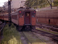 South Shore 16 Randolph St. 7-11-78 (jsmatlak) Tags: chicago south shore bend railroad electric interurban train nictd csssb